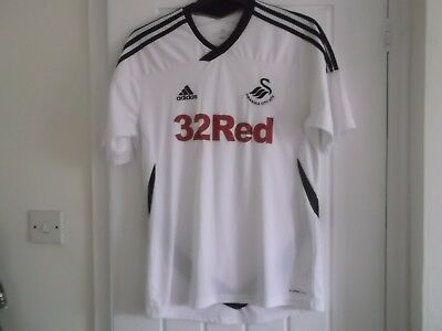 Swansea Home Football Shirt Medium Size 44 Ins Adidas Make