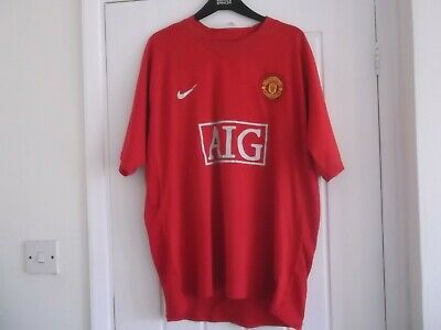 "Manchester United Home Football Shirt Xl Size 45/47 Ins Nike Make "" Ronaldo 7"""