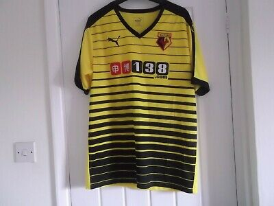 Watford Home Football Shirt Large Size 44 Ins Puma Make