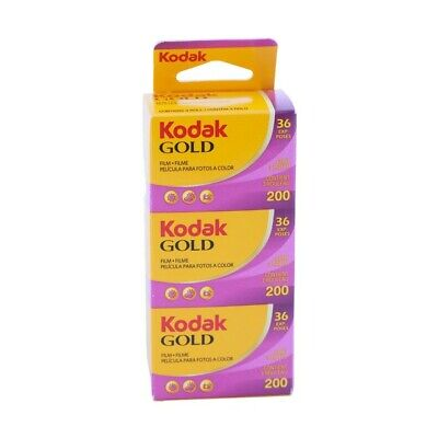 Kodak Gold 200asa Cheap Colour Film 35mm 36exp 3 Pack Expiry Date 08/2021