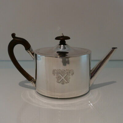 18th Century Antique George III Sterling Silver Teapot London 1792 Henry Chawner
