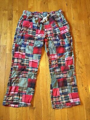 AMERICAN EAGLE Men's Pants Pajama Lounge Sleep Patchwork Plaid Size XL Good