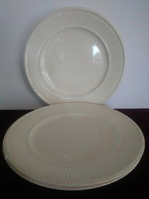 "Set of 3 Wedgwood Edme 61298 Dinner Plate(s) 10 1/2"" England Cream"