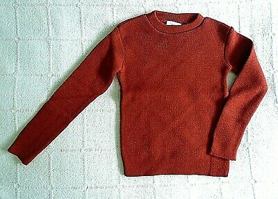Vintage Crew-Neck Jumper - Age 4-6 Years Approx - Rust  - Acrylic - New