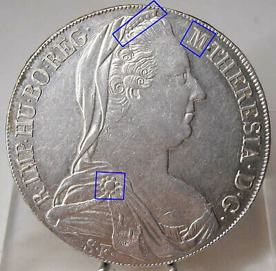 RDR, 1 Taler, Maria Theresia 1780 SF, Mailand, H36, Silber