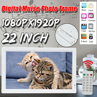 22'' 1080P HD LED Electronic Digital Photo Frame Picture MP4 Movie Player