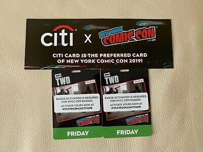 2 New York Comic Con Friday Badges / Ticket NYCC 2019 (SOLD OUT) Activated.