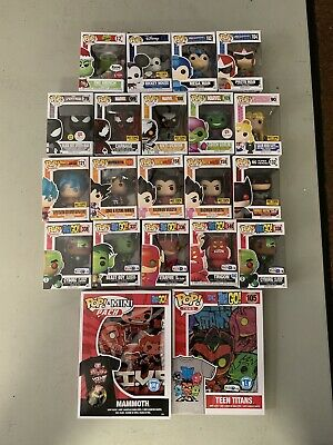 Funko Pop Lot Exclusive 19 Pops Dragon Ball Z And Two Funko Shirts Teen Titans