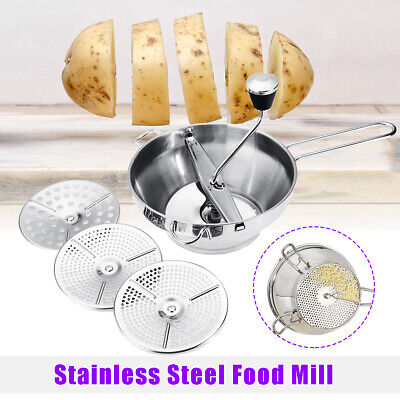 Stainless Steel Food Mill Metal Vegetable/Rice Mixer Maker Kitchen Tools Set US