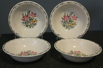 THOMSON Crocus (4) Soup Cereal Bowls  RETIRED 2005