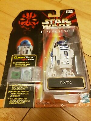 Hasbro Star Wars Episode 1 - R2-D2 Figure + Comm Tech Chip Collection 2 1999 New