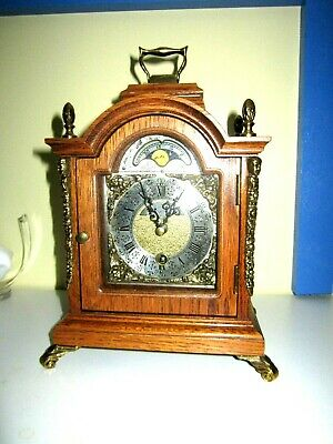 RARE Moonphase WARMINK WUBA Mantel Clock - FREE SHIPPING IF SOLD 260$ AND MORE