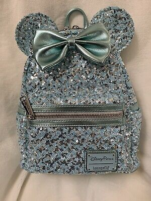 Disney Parks Arendelle Aqua Sequin Loungefly Sequin Backpack~Brand New~NWT