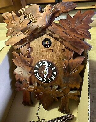 Vintage Black Forest German Cuckoo Clock Made in Germany In Original Box