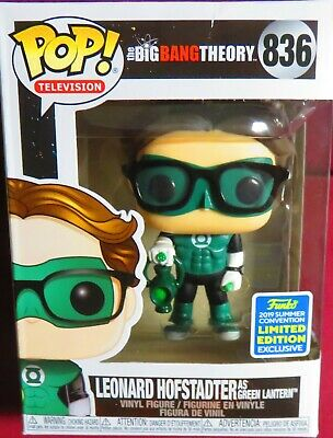 "New Pop Tv, ""Big Bang Theory"", 2019 Convention Exc,. Leonard As Green Lantern"