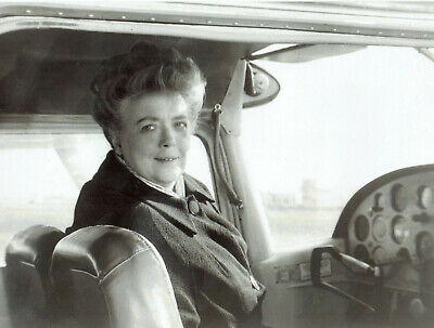 1968 Vintage Photo Frances Bavier in cockpit to fly airplane Andy Griffith Show