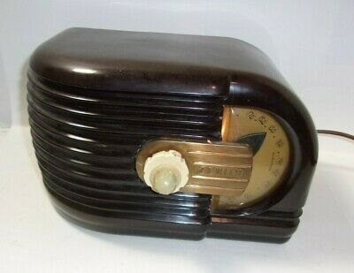 Vintage Art Deco 1930's Zenith 6D-311 Tube Radio Works