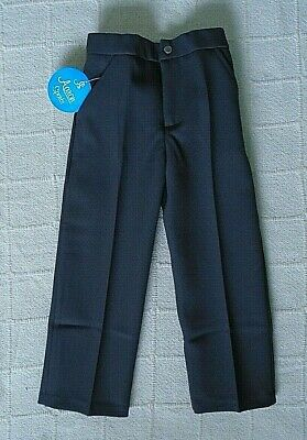 Vintage Boys Tailored Trousers - Age 5-6 Years approx - Grey- Zip Front - New