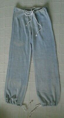 """Vintage Teens Jogging Trousers -  32"""" O.L. Grey Stretch Velour - Used"""