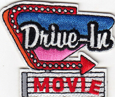 DRIVE-IN MOVIE Iron On Patch Movies