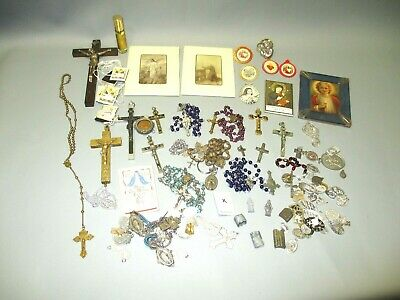 Vintage Military Pull Chain Brass Rosary. Nice Lot!