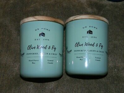 DW HOME 15.01 oz  SCENTED CANDLE PEPPERMINT LEAF