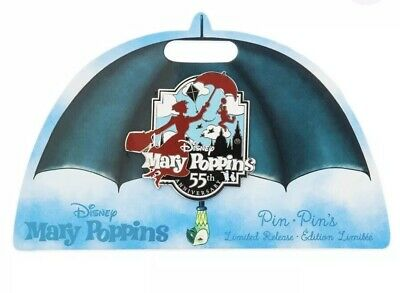 DISNEY PIN: Mary Poppins- 55th Anniversary Pin LIMITED RELEASE (unopened)
