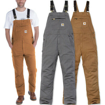 Carhartt Mens Rugged Cotton Spandex Flex Rigby Bib Overalls