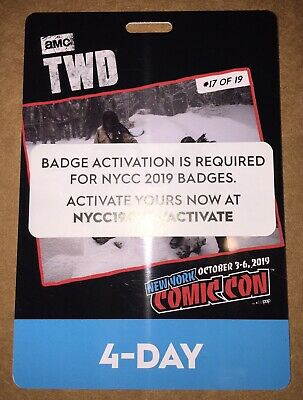 New York Comic Con 4 Day Badge Pass Nycc 2019 Javits Center- Sold Out!