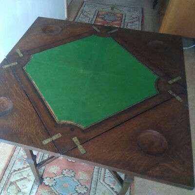 Victorian Edwardian Swivel Envelope Fold out Card Table