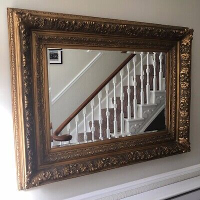 Large Antique style opulent Gold Rococo Wall / Hall or Leaner mirror
