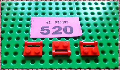 Rouge // Red NEUF Lego 48336-6x Plaque // Plate modified 1x2 with handle
