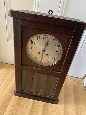 Striking Antique Wall Clock Spares Or Repair