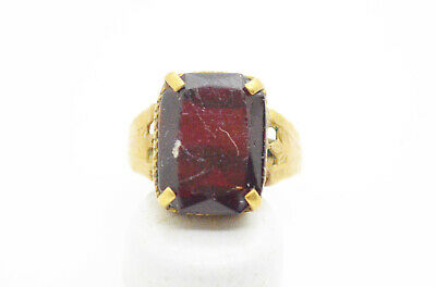 Post Medieval period ring with ruby gemstone. 18 Century