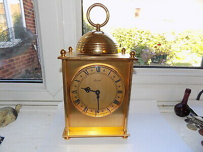 1978 Dated Swiss Imhof Paris Chime 8 Day 17 Jewel Movement Brass Carriage Clock