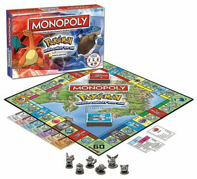 Pokemon Monopoly Table Board Game Set Christmas New Year Family Parent-ChildGame