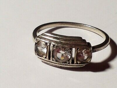 Vintage Art Deco,sterling silver paste ring size 7.5-8