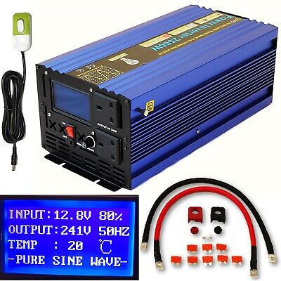 2500W/5000W(Peak) DC12V INTELLIGENT PURE SINE WAVE POWER INVERTER +REMOTE SWITCH