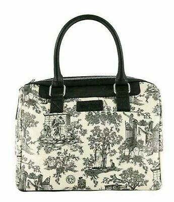 Disney Parks Haunted Mansion Satchel Toile Graveyard Characters Purse NEW