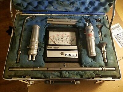 Alnor Series 6000 P Velometer Air Velocity Flow Meter w/ Case & Attachments