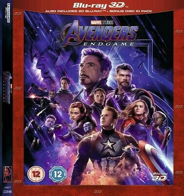 Avengers: Endgame 3D BLURAY  (no region code required )