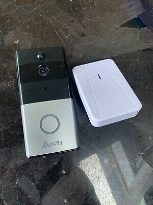 Wireless Video Doorbell Accfly WiFi Smart Doorbell with Chime Card 720P
