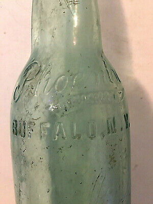 Original light green embossed bottle Phoenix Beverage from Buffalo, NY.