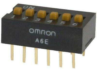 A6E-6104 Switch DIP-SWITCH Poles number 6 ON-OFF 0.025A/24VDC 100MΩ  OMRON