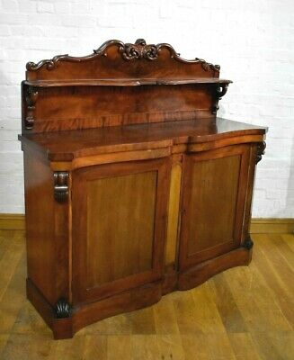Antique Victorian chiffonier sideboard - side cabinet / cupboard