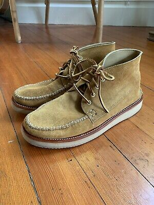 New England Outerwear Maine Moccasin Chukka Boot Tan 11 Quoddy-style Made In Usa