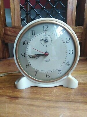 Vintage Smiths Sectric Cream Alarm Clock  (Electric) (UNTESTED)