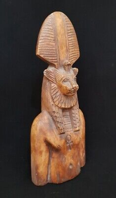 Giant Sekhmet Stone Sculpture Ancient Egyptian Antique Faience Lioness Figurine