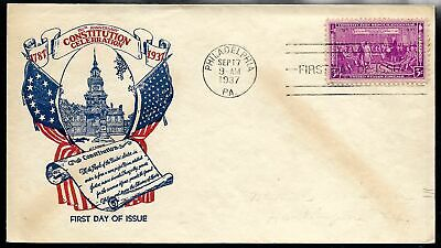 1937 Constitution Issue FDC #798 Mellone #36 - WSE Cachet