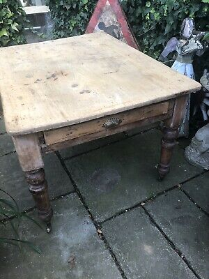 Early Victorian Scullery PItch Pine Table Kitchen 1200x900
